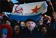Жители Севастополя на праздничном концерте после проведения референдума о статусе Крыма.