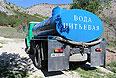 Цистерна с питьевой водой для жителей села Морское в Судакском районе.
