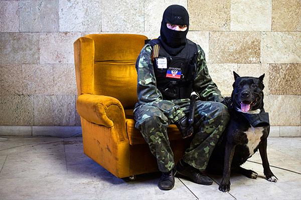 Портрет с собакой.