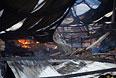 Сгоревшая обувная фабрика в южной провинции Бинь Дуонг.
