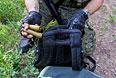 Пулеметные гильзы, найденные в рюкзаке одного из задержанных на окраине Краматорска.