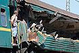 По факту столкновения двух поездов уже возбуждено уголовное дело по части 3 стати 263 УК РФ (нарушение правил безопасности движения и эксплуатации железнодорожного транспорта, повлекшее по неосторожности смерть двух или более лиц).