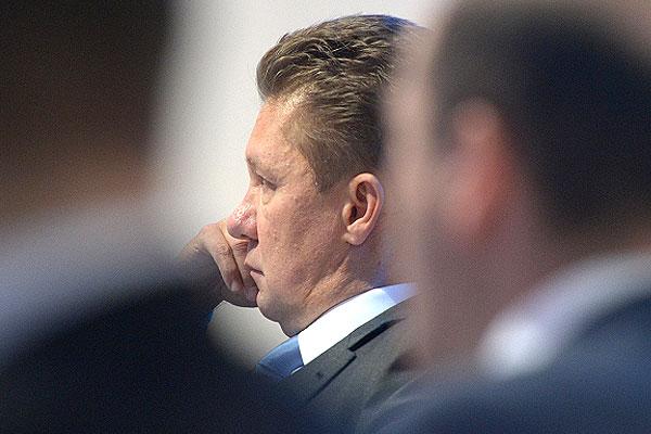 """Председатель правления ОАО """"Газпром"""" Алексей Миллер на панельной сессии """"Изменение географии глобального газового рынка""""."""