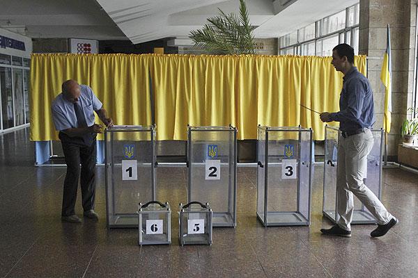 Ход голосования на одном из участков.