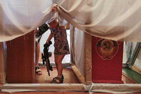 Избирательный участок в Кодре.