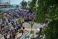 Сторонники президента Абхазии Александра Анкваба во время митинга на площади имени Сергея Багапша в Сухуми.