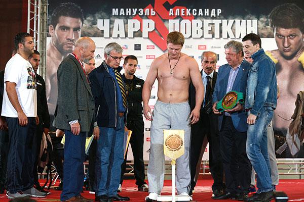 Поветкин оказался легче соперника на 10 кг - 102 против 112,2 кг немца.