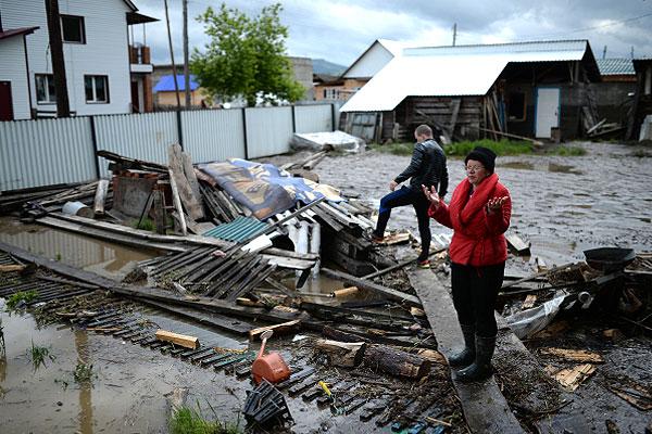 Уровень воды в Катуни понизился.