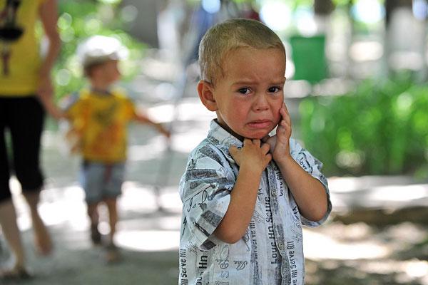 """Мальчик на территории оздоровительного центра """"Дмитриадовский"""" в Ростовской области."""