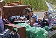 Беженцы из Донбасса.