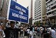 Крупнейшие акции протеста в Гонконге прошли в 2003 и 2004 годах. В июле 2003 года на улицы вышли полмиллиона человек. Они требовали от администрации отказаться от принятия поправок в Основной закон Гонконга, который, по их мнению, нарушил бы права и свободы жителей региона, и добились своего. Через год основным требованием массовых демонстраций стало проведение всеобщих выборов, однако это требование до сих пор не выполнено в полной мере.