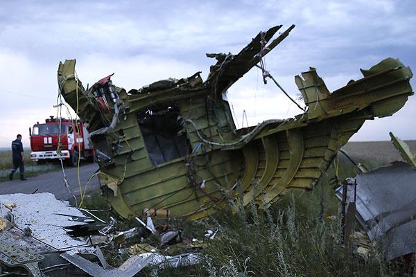 """Обломки """"Боинга-777"""" разлетелись на пять километров."""