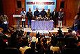 Премьер-министр Малайзии Наджиб Тун Разак на пресс-конференции.
