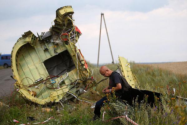 На месте падения самолета под Грабово.