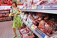 Полки с мясом из Франции.