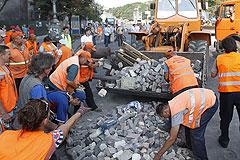 В центре Киева восстановили движение