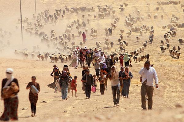 Езиды двигаются к границе с Сирией.