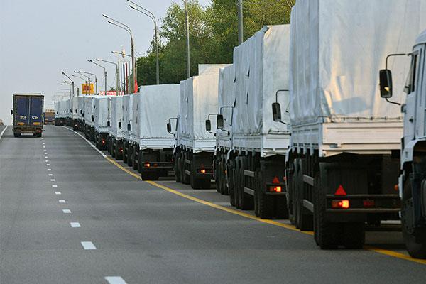Гуманитарную помощь, которую направляет Москва и Московская область, везут 280 КамАЗов.