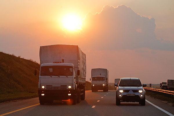 Участок пути автоколонны под Воронежем.