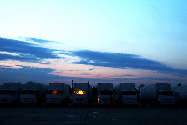 Рассвет перед выездом из Алабино.