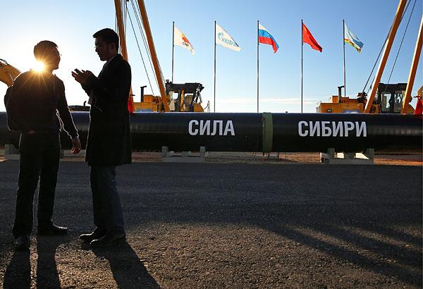 """""""Газпром"""" в понедельник провел торжественную церемонию начала строительства газопровода """"Сила Сибири""""."""