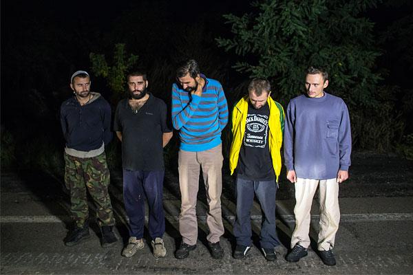 Украинские пленные в ожидании обмена.