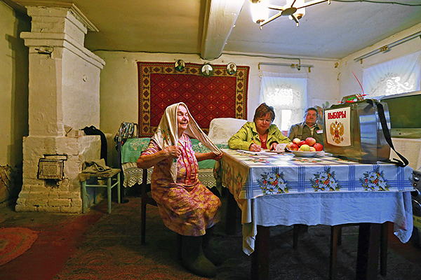 Голосование на дому в Ивановской области.