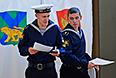 Курсанты Тихоокеанского военно-морского института имени С. О. Макарова во время голосования во Владивостоке.