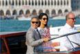В апреле 2014 года пара обручилась. Детали свадьбы, которая должна была пройти в Венеции, до последнего момента держались в секрете. В день свадьбы 53-летний Клуни надел костюм от Armani, а 36-летняя Аламуддин вышла замуж в платье от Oscar de la Renta. Впрочем, на публике после свадьбы она появилась в белом платье с красно-фиолетовым орнаментом от Giambattista Valli.