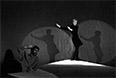 """Спектакль """"Антимиры"""" по произведениям Андрея Вознесенского на сцене Театра на Таганке, 1969 год. Алла Демидова читает монолог Мерилин Монро."""