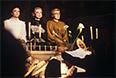 """Спектакль """"Три сестры"""" по пьесе Антона Чехова. Любовь Селютина в роли Ирины, Алла Демидова в роли Маши и Марина Полицеймако в роли Ольги (слева направо), 1981 год."""