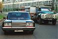 Фото 2001 года: заводу имени Лихачева в этом году исполнилось 85 лет. За это время с конвейера завода сошли около 8 млн грузовиков, 39 тыс. автобусов, 11,5 тыс. легковых автомобилей. На снимке: правительственный лимузин ЗИЛ 4105 и грузовик ЗИЛ