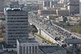 Вид на Третье транспортное кольцо с территории завода ЗИЛ. 2014 год