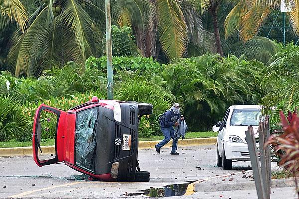 На одной из улиц Акапулько.