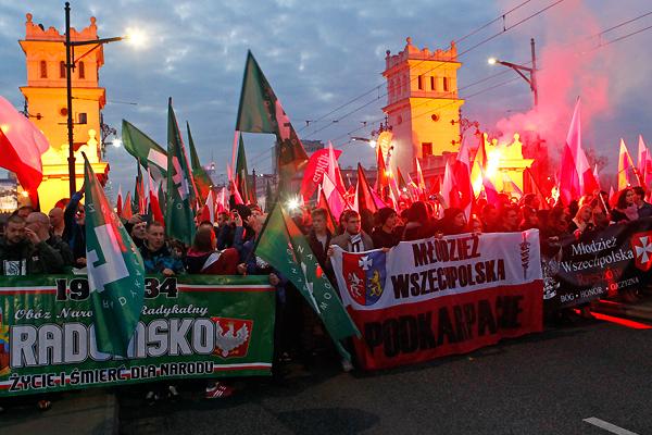 Во вторник в польской столице прошел организованный националистическими движениями марш, приуроченный к Дню независимости Польши.