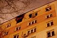 Один из домов на Шелепихинской набережной, где в результате аварии вспыхнул пожар.
