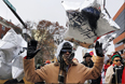 Марш протеста в Клейтоне, штат Миссури.