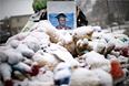 Самодельный мемориал в Фергюсоне в память о Майкле Брауне.