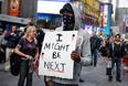 Акция протеста на Таймс-сквер в Нью-Йорке