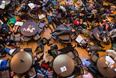 Протест студентов Вашингтонского университета в Сент-Луисе против решения по делу об убийстве в Фергюсоне