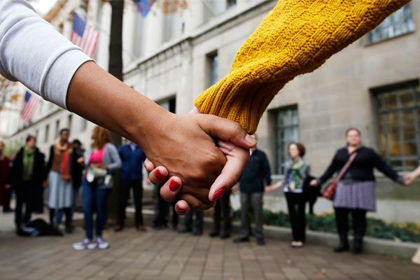 Акция протеста в Бостонском университете