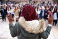 Митинг студентов Университета Колорадо в поддержку протестующих жителей Фергюсона