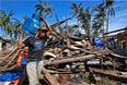 Первый удар стихии пришелся на город Долорес в провинции Восточный Самар