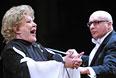Елена Образцова и дирижер Джулиано Карелла во время концерта, посвященного 45-летию ее творческой деятельности, в Большом театре. 2008 год.