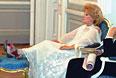 Елена Образцова за кулисами Большого зала филармонии им. Д.Шостаковича. 2003 год.