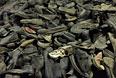 Обувь, принадлежавшая заключенным лагеря