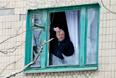 Жилые кварталы Краматорска после обстрела, 10 февраля