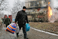 Последствия артобстрела Донецка, 9 февраля