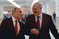 Владимир Путин и Александр Лукашенко перед началом переговоров