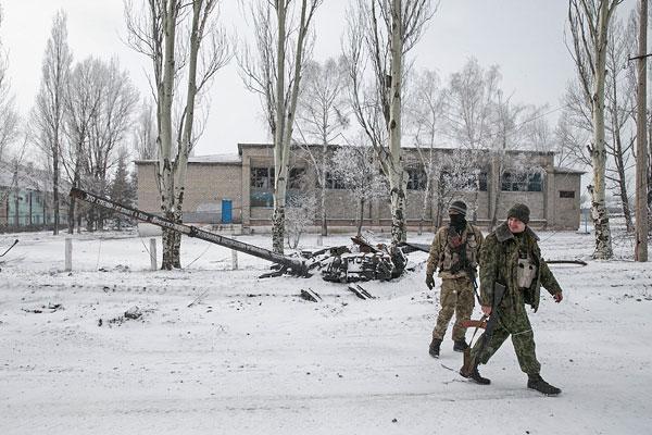 Бойцы ДНР в Углегорске
